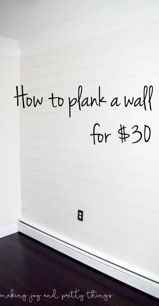 shiplap wall | diy shiplap wall | how to plank a wall | planked wall | diy plank wall