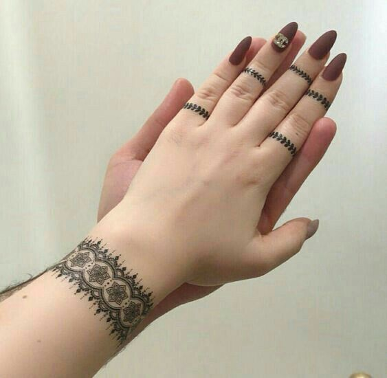 Simple Mehide Design Finger Henna Henna Designs Hand Finger