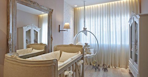 """Com luz """"filtrada"""" e suave, a designer de interiores Rafaela Simão cria o Quarto de Bebê em estilo provençal e com características delicadas. A Casa Cor MG fica em cartaz até 16 de outubro de 2012, em Belo Horizonte"""