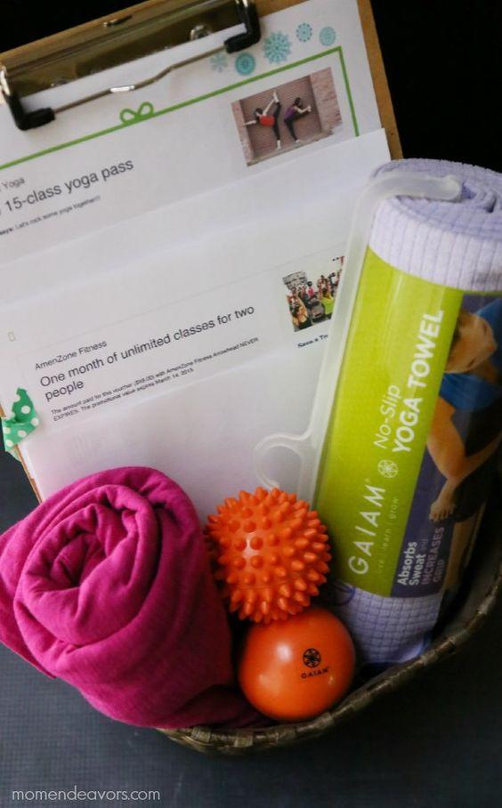Workout gift basket homeschool pinterest
