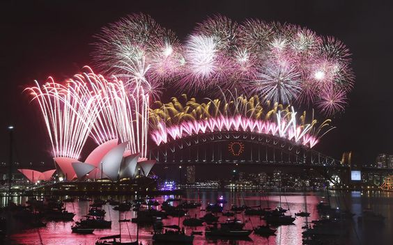 Thousands of people crammed into Lady Macquaries Chair look-out to see the new year in and watch the annual fireworks show.