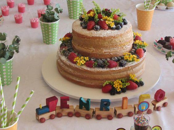 naked cake, sem açucar, com frutas, que criança pode comer