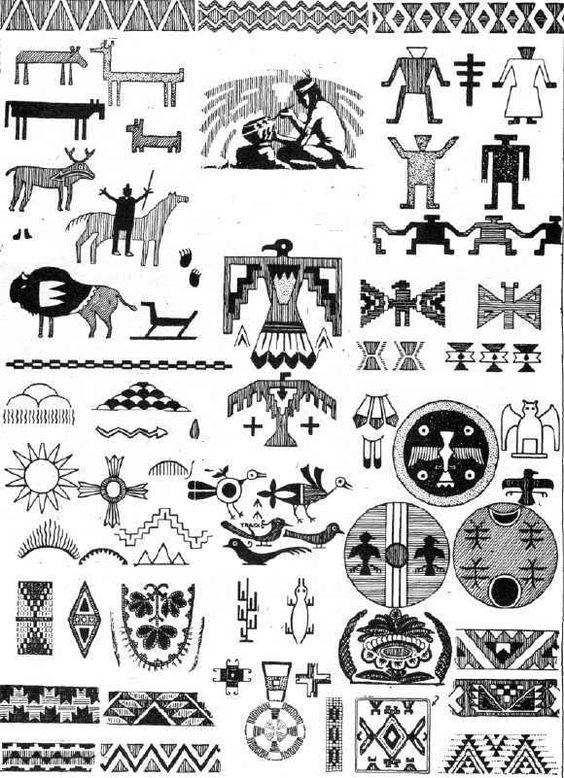 indianer cheyenne  indianische piktogramme und symbole