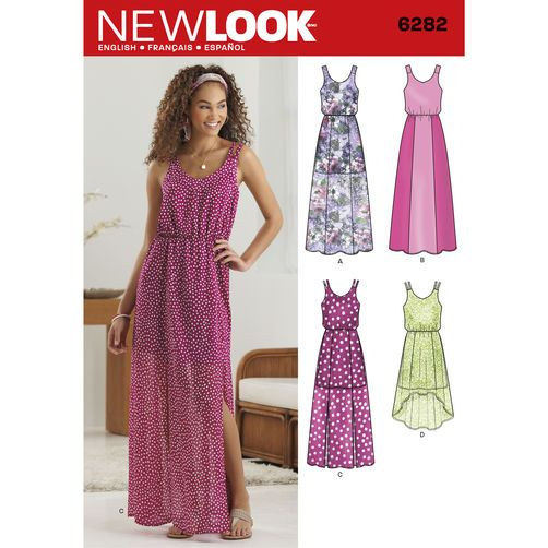 New Look Pattern 6282 Misses' Dress in Two Lengths: