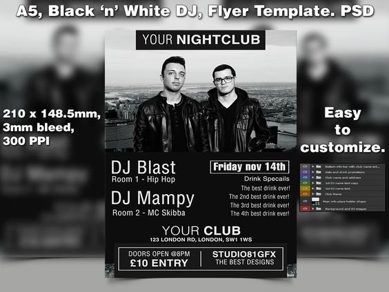 Best Night Club Event Flyer Template Ideas Images On