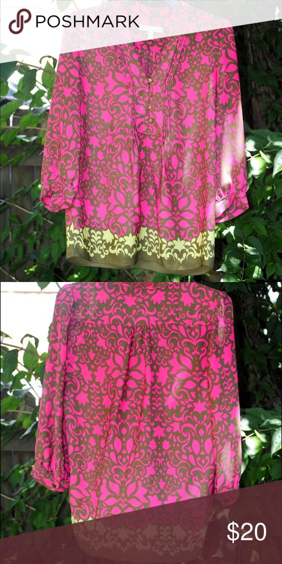 Banana Republic Size S silk blouse Perfect condition. Worn twice Banana Republic size small silk blouse. Banana Republic Tops Blouses