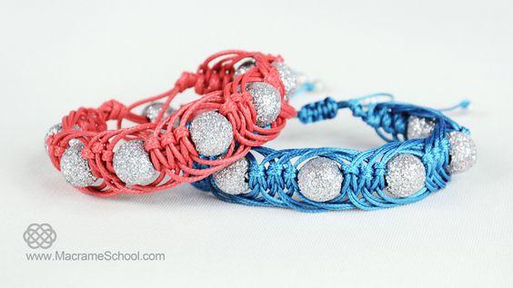 DIY Easy Macrame Party Bracelets: http://youtu.be/cclbqeueCdY