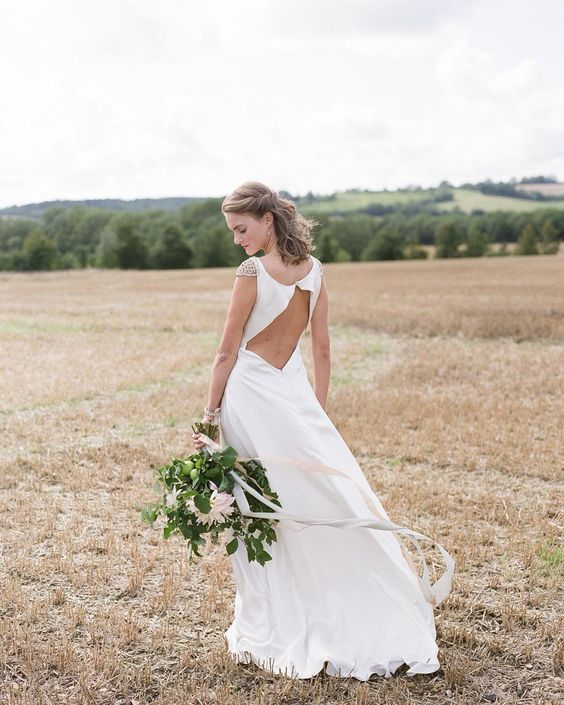 A #sneakpeek at the swoon-worthy @edmondsonbridalcouture #weddingdress in tomorrow's English countryside inspiration captured by @natasha_hurley! | Styling Concept & Table Decor : @thewstylist | Floral: @floribundaroseflorists | Cake  Desserts: @abiannacakes | Dining Furniture  Lighting: @stressfreehire | Table Linen: @tabletodinefor | Jewelry Hair  Makeup: @victoriafergussonaccessories | Stationery  Calligraphy: @gemmamilly | #EADweddings #elizabethannedesigns #bride by elizabethannedesigns