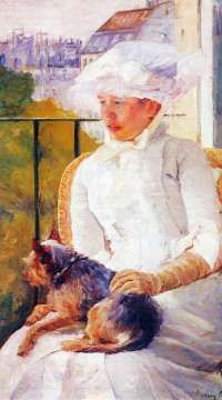 A jigsaw puzzle you can play online: Lady With Dog