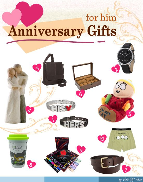 Best anniversary gift ideas for him best anniversary for Best marriage anniversary gifts