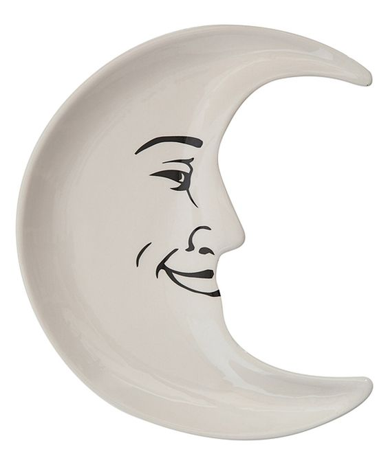 Look at this Moon Ceramic Plate on #zulily today!