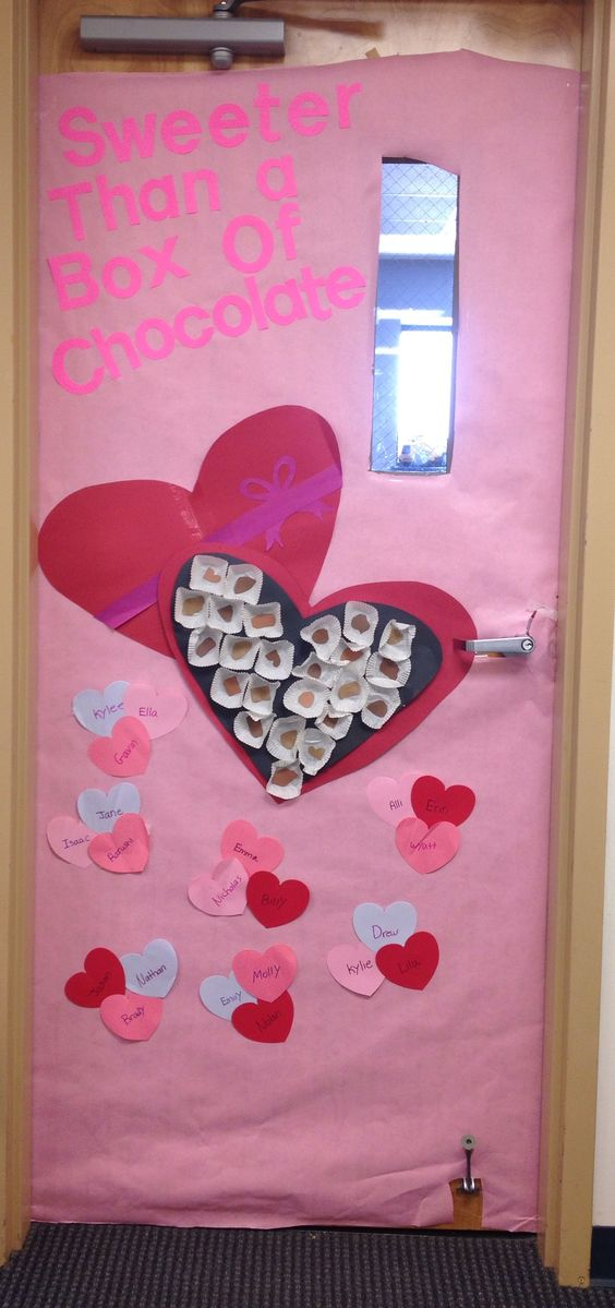 Classroom Door Decoration Ideas For Valentines : Classroom valentines day door decoration bulletin board