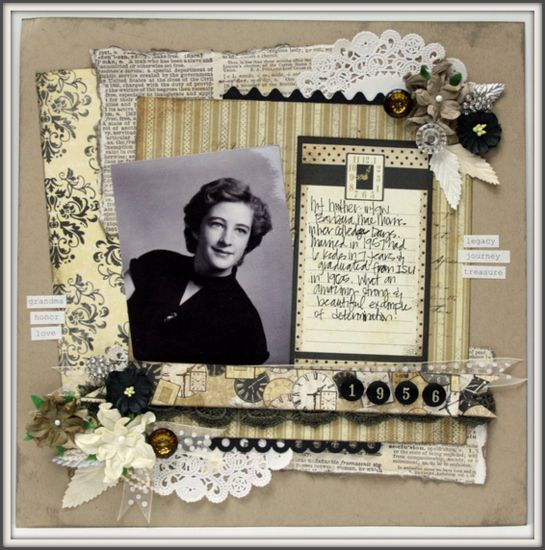 Bazzill Heritage Scrapbooking Layouts    http://blog.craftershome.com/2012/10/31/bazzill-inspiration-week-heritage/#