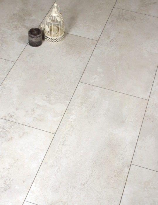 Cream Tile Effect Laminate Floor, Tile Pattern Laminate Flooring