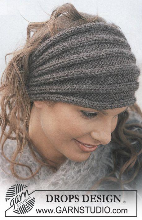 """DROPS Stirnband in """"Alaska"""" und Schal in """"Vienna"""" ~ DROPS Design"""