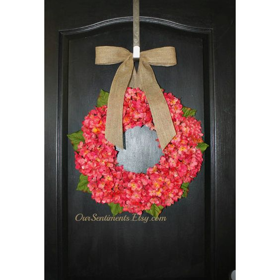 Floral Door Wreath Spring Wreath Blue Hydrangea Wreath Hydrangea... ($65) ❤ liked on Polyvore featuring home, home decor, dark olive, home & living, home décor, wall décor, outdoor home decor, floral door wreaths, hydrangea door wreath and hydrangea wreath