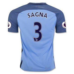 Manchester City Home 16-17 Cheap #3 SAGNA Soccer Jersey [G107]