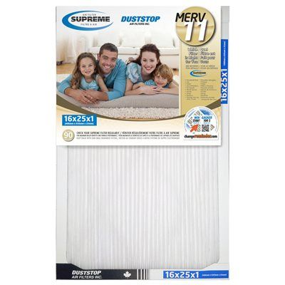 Duststop Supreme 16-in x 25-in x 1-in Electrostatic Pleated Air Filter