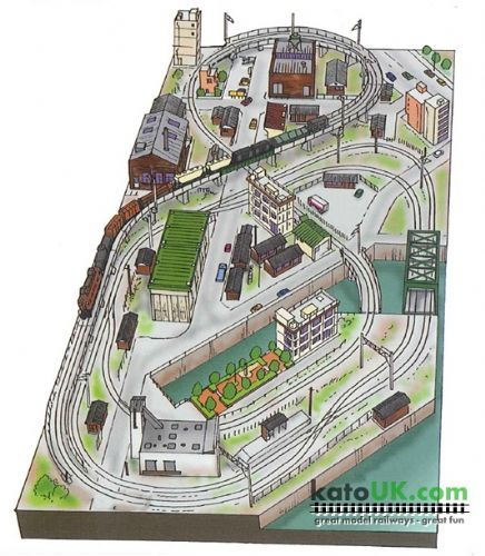 Kato Unitrack Factory District Track Plan – Kato Engine Diagram