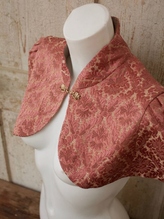 Last chance to grab some of my beloved ANOUSCHKA capelets before they're gone for good! These are the last few ready-to-ship capes that are left — once they're sold out, th... #etsy #handmade #lingerie #boudoir #intimates #cape #victorian #steampunk #fall #autumn #rococo #pink #gold #capelet #shrug