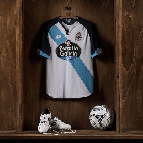 Camisas do Deportivo La Coruña 2016-2017 Lotto Reserva
