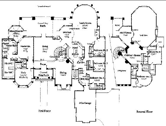 Mansion floor plans modern mansion and silk wallpaper on for Estate home floor plans