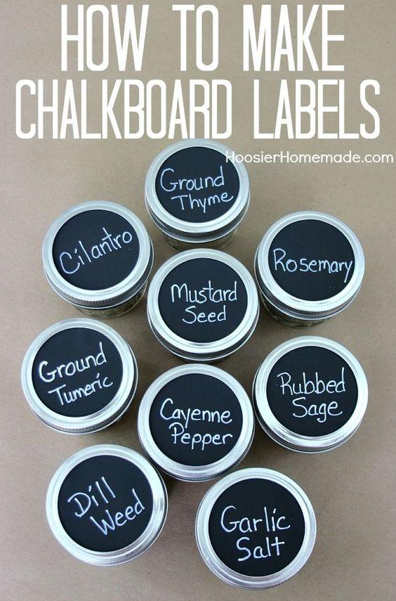 How to make chalkboard labels chalkboard labels for Diy chalk labels
