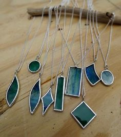 Custom Stained Glass Bridesmaid Necklaces Etsy In 2020 Stained Glass Earrings Stained Glass Diy Custom Stained Glass