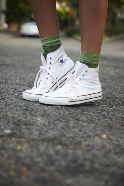 All White Socks With Low Rise Shoes