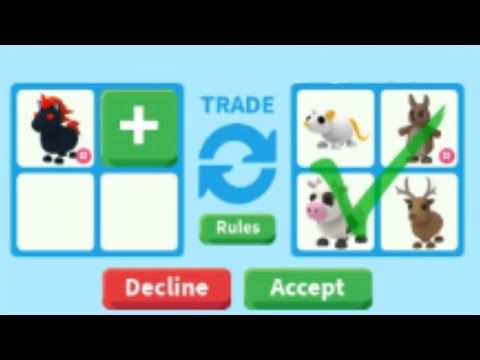 Trading Evil Unicorn In Adopt Me On Roblox Evil Unicorn Worth Evil Unicorn Roblox Roblox Adventures