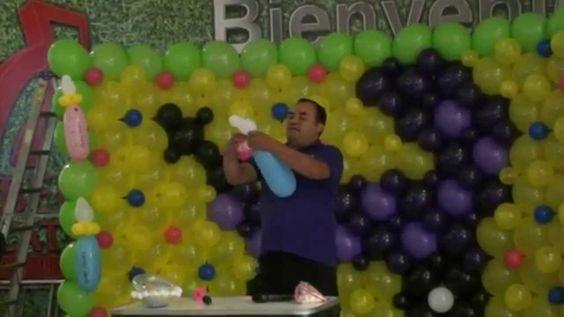 chupet ,mamila o biberon con globos chasty
