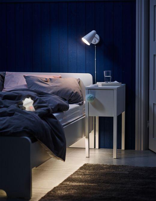Richtige Beleuchtung Zum Schlafen Schlafzimmerlicht Bettgestell Ikea