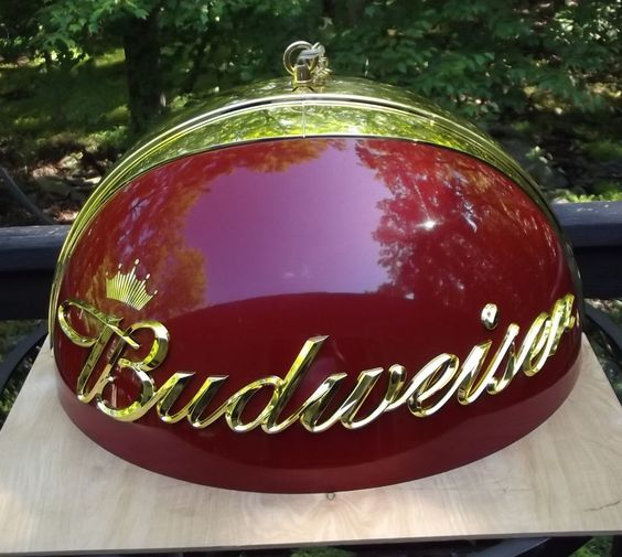 BUDWEISER Beer Game Room / Pool Table Round Chandelier