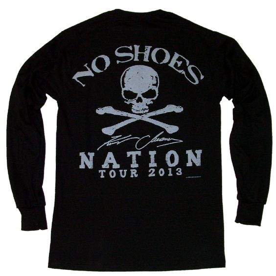 Kenny Chesney 2013 Long Sleeve Black No Shoes Nation Tee