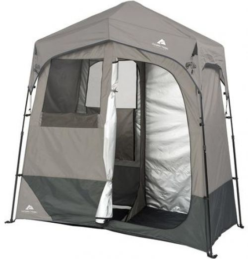 2 Room Solar Shower Tent Utility Shelter Camping 5 Gallon Portable Camp Outdoor #OzarkTrail #2RoomSolarShowerUtilityShelter