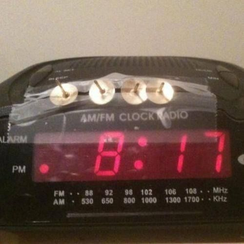 This ought to stop you from hitting the snooze button.Now keep up & go to church.