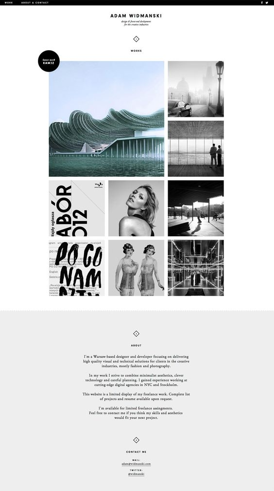 Minimal Website Layout