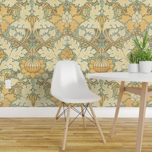 William Morris Growing Damask Large In 2021 Victorian Wallpaper Decor Peel And Stick Wallpaper