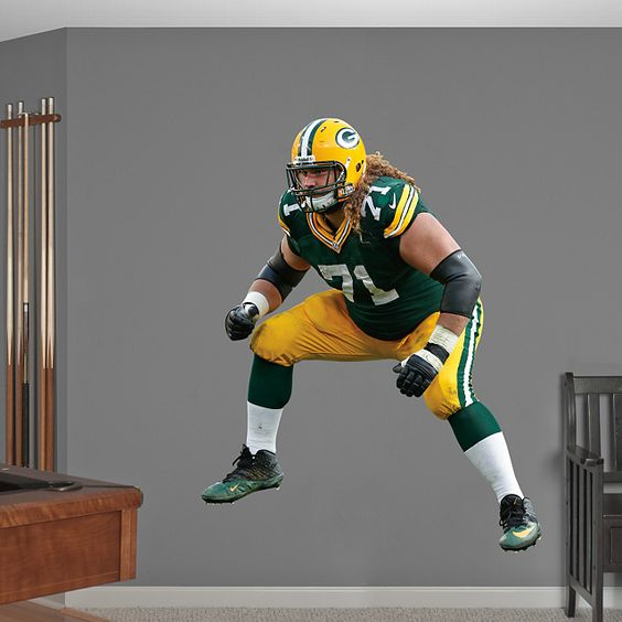Nike jerseys for wholesale - Josh Sitton REAL.BIG. Fathead �C Peel & Stick Wall Graphic | Green ...