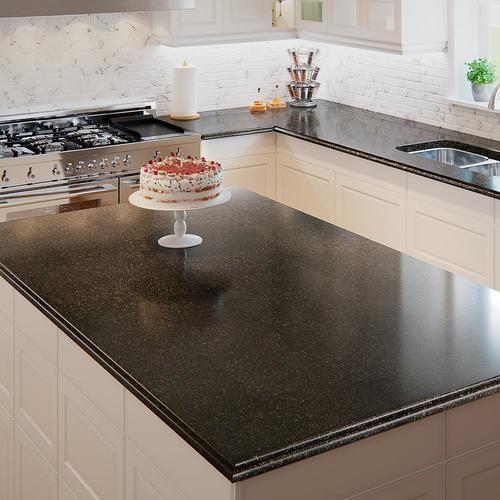 Shop Allen Roth Black Pearl Granite Kitchen Countertop Sample In