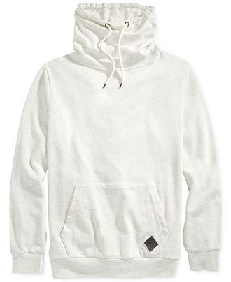 Univibe Funnel-Neck Solid Sweatshirt - Hoodies & Sweatshirts - Men ...