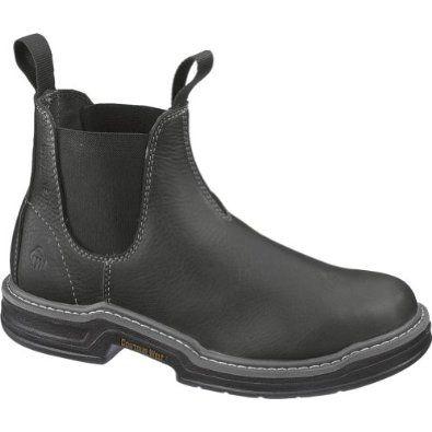 Reviews Men's Wolverine RAIDER ROMEO Work Boots BLACK 11 M Find ...