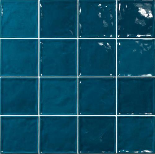 carrelage effet zellige bleu canard