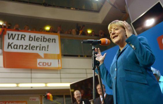 Merkel im Konrad-Adenauer-Haus: Triumphaler Sieg