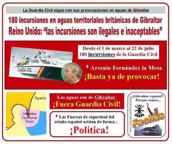 La Guardia Civil sigue con sus provocaciones en aguas de Gibraltar.