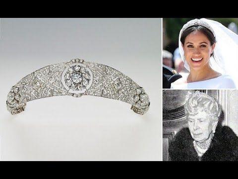 meghan markle tiara wedding meghan s sparkling tiara is queen mary s diamond bandeau youtube harry and meghan wedding tiara meghan markle wedding meghan markle tiara wedding meghan s