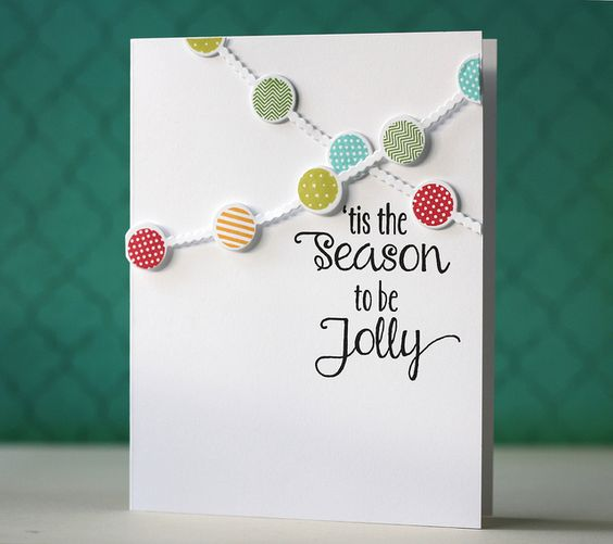 'Tis The Season Card by Laura Bassen for Papertrey Ink (October 2013)