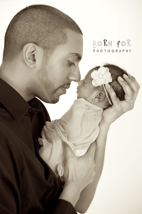 Born For Photography: Newborn girl photography with Daddy