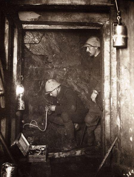 World War I Listen underground of enemy activity In 1916