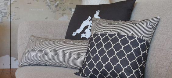 Neue Kissen - Muster in grau / beige